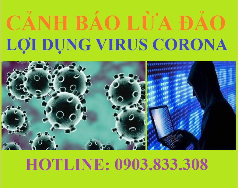 Lợi dụng dịch Virus Corona (NCoV) để lừa đảo