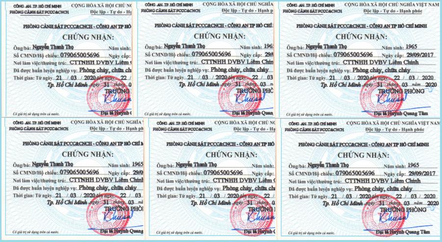 Cách nhận biết giấy chứng nhận PCCC thật 12