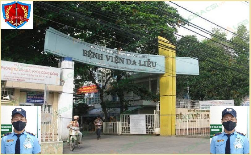 Bảo vệ giữ xe bệnh viện Da Liễu TPHCM