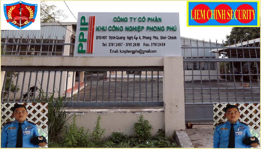Bảo vệ cho khu công nghiệp Phong Phú