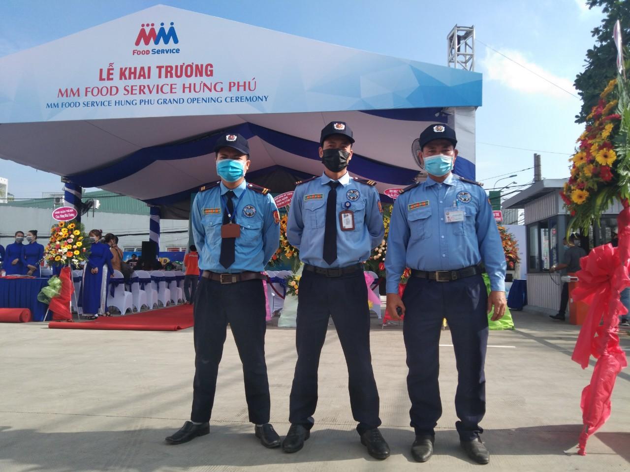 Bảo vệ cho siêu thị MM Mega Market Hưng Phú